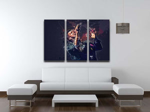 Chris Martin Splatter 3 Split Panel Canvas Print - Canvas Art Rocks - 3