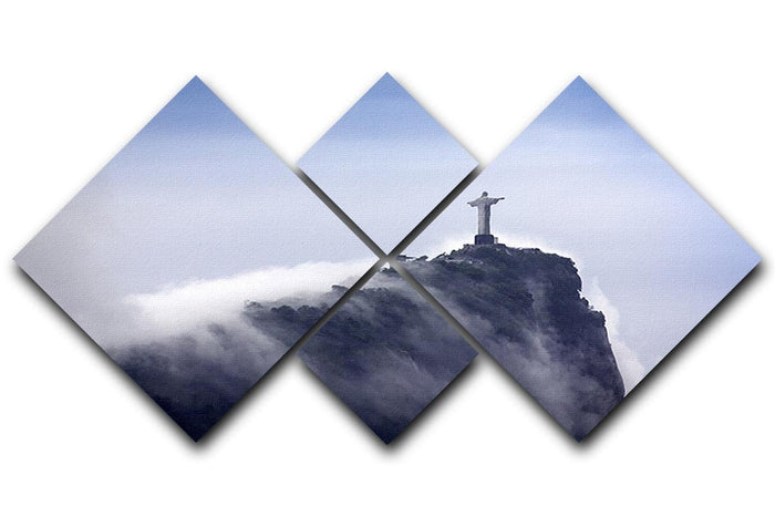 Christ the Redeemer in clouds 4 Square Multi Panel Canvas