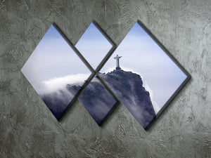 Christ the Redeemer in clouds 4 Square Multi Panel Canvas  - Canvas Art Rocks - 2