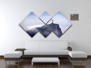 Christ the Redeemer in clouds 4 Square Multi Panel Canvas  - Canvas Art Rocks - 3