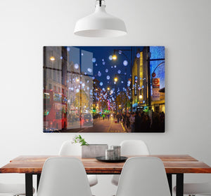 Christmas lights on Oxford street HD Metal Print