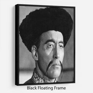 Christopher Lee in The Face of Fun Manchu Floating Frame Canvas - Canvas Art Rocks - 1