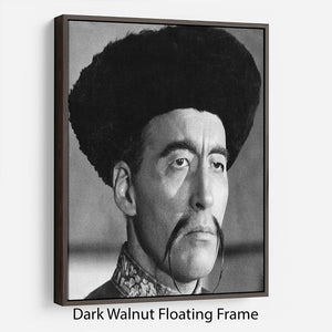 Christopher Lee in The Face of Fun Manchu Floating Frame Canvas - Canvas Art Rocks - 5