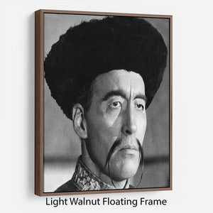 Christopher Lee in The Face of Fun Manchu Floating Frame Canvas - Canvas Art Rocks - 7