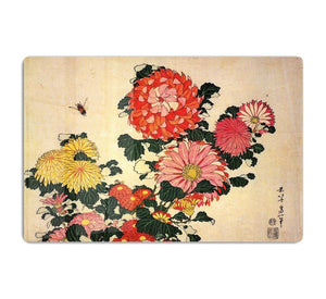 Chrysanthemum and bee by Hokusai HD Metal Print