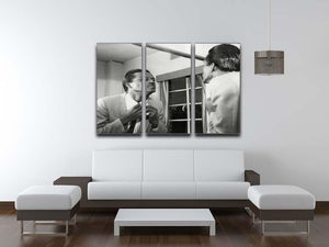 Chuck Berry dressing 3 Split Panel Canvas Print - Canvas Art Rocks - 3