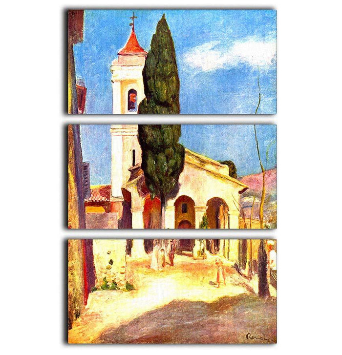 Church in Cagnes by Renoir 3 Split Panel Canvas Print