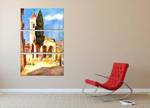 Church in Cagnes by Renoir 3 Split Panel Canvas Print - Canvas Art Rocks - 2