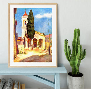 Church in Cagnes by Renoir Framed Print - Canvas Art Rocks - 3