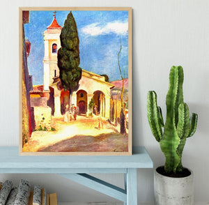 Church in Cagnes by Renoir Framed Print - Canvas Art Rocks - 4