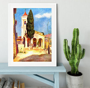Church in Cagnes by Renoir Framed Print - Canvas Art Rocks - 5