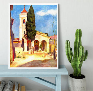 Church in Cagnes by Renoir Framed Print - Canvas Art Rocks -6