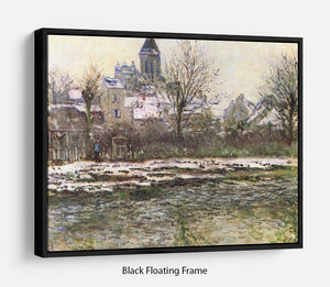 Church of Vetheuil in the snow by Monet Floating Frame Canvas