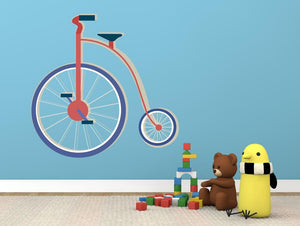 Circus Bike Wall Sticker - Canvas Art Rocks - 1