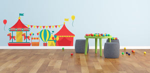 Circus Carousel Wall Sticker - Canvas Art Rocks - 1