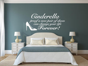 Cinderella Wall Sticker - Canvas Art Rocks - 1