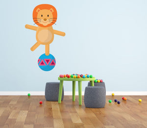 Circus Lion Wall Sticker - Canvas Art Rocks - 1