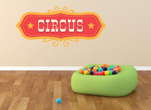 Circus Sign Wall Sticker - Canvas Art Rocks - 1
