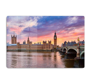 Cityscape of Big Ben and Westminster Bridge HD Metal Print