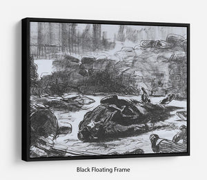 Civil war by Manet Floating Frame Canvas