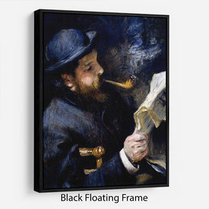 Claude Monet Reading A Newspaper by Renoir Floating Frame Canvas