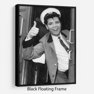Cliff Richard on a bus Floating Frame Canvas - Canvas Art Rocks - 1