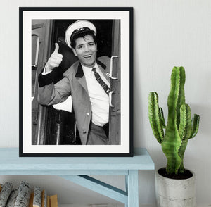 Cliff Richard on a bus Framed Print - Canvas Art Rocks - 1