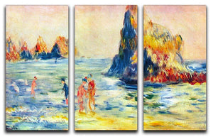 Cliffs at Guernsey by Renoir 3 Split Panel Canvas Print - Canvas Art Rocks - 1