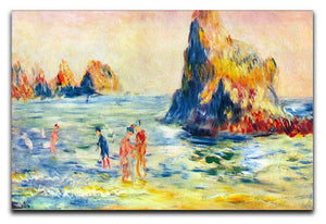 Cliffs at Guernsey by Renoir Canvas Print or Poster  - Canvas Art Rocks - 1