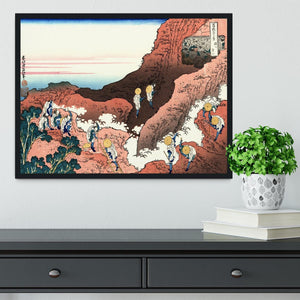 Climbing on Mt. Fuji by Hokusai Framed Print - Canvas Art Rocks - 2