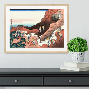Climbing on Mt. Fuji by Hokusai Framed Print - Canvas Art Rocks - 3