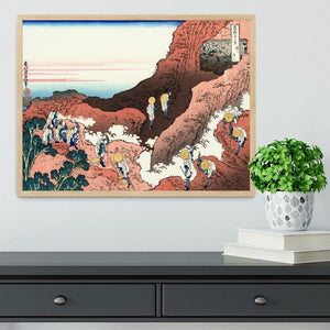 Climbing on Mt. Fuji by Hokusai Framed Print - Canvas Art Rocks - 4