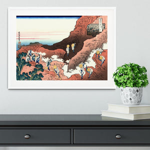 Climbing on Mt. Fuji by Hokusai Framed Print - Canvas Art Rocks - 5