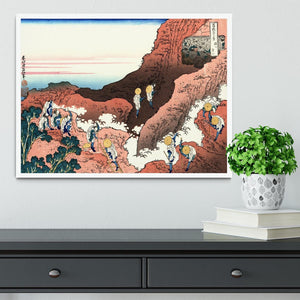 Climbing on Mt. Fuji by Hokusai Framed Print - Canvas Art Rocks -6