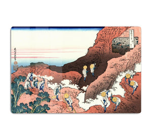 Climbing on Mt. Fuji by Hokusai HD Metal Print