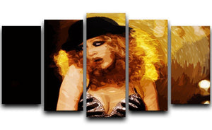 Close Up of Christina Aguilera from Burlesque 5 Split Panel Canvas  - Canvas Art Rocks - 1