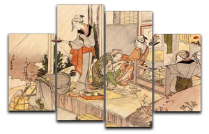 Close to mount Fuji by Hokusai 4 Split Panel Canvas  - Canvas Art Rocks - 1
