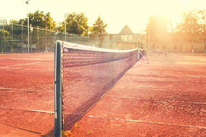 Close up of clay tennis court Wall Mural Wallpaper - Canvas Art Rocks - 1
