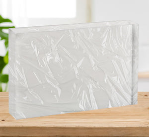 Closeup of wrinkled plastic Acrylic Block - Canvas Art Rocks - 2