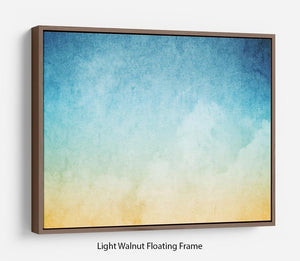 Cloudscape with grunge Floating Frame Canvas