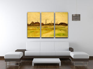Coalmine in the Borinage by Van Gogh 3 Split Panel Canvas Print - Canvas Art Rocks - 4