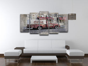 Coca Cola Van Painting 5 Split Panel Canvas - Canvas Art Rocks - 3