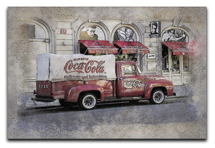 Coca Cola Van Painting Canvas Print or Poster