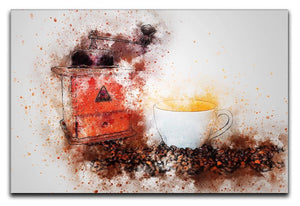 Coffee Painting Canvas Print or Poster  - Canvas Art Rocks - 1