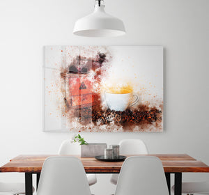 Coffee Painting HD Metal Print