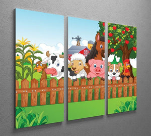 Collection farm animals 3 Split Panel Canvas Print - Canvas Art Rocks - 2