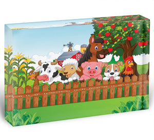 Collection farm animals Acrylic Block - Canvas Art Rocks - 1