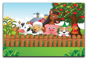 Collection farm animals Canvas Print or Poster  - Canvas Art Rocks - 1