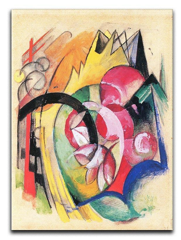 Colored flowers by Franz Marc Canvas Print or Poster
