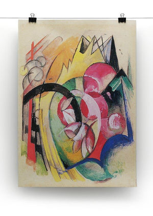 Colored flowers by Franz Marc Canvas Print or Poster - Canvas Art Rocks - 2